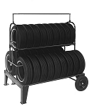Three Tier Tire Rack with Lock Kit (NO SIGN)