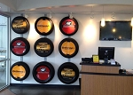"Tire Wall Display KIT with 2-47"" tracks and 3 Tire Brackets with Hardware"