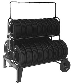 Three Tier Tire Rack with Swinging Sign Kit & Lock Kit (NO SIGN)